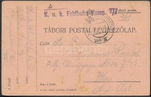 "Field postcard ""K.u.k. Feldbahn Komp. 2/3"" + ""EP 300/III"", Tábori posta levelezőlap ""K.u.k. Feldbahn Komp. 2/3"" + ""EP 300/III"""