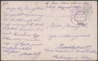 1918 Tábori posta képeslap / Field postcard MARSCHFORMATIONEN d.k.u.k. Infanterie Rgmt. No.52. + FP 566 (Rainer 1.000 pont)