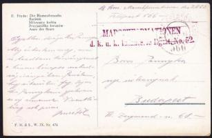 1918 Tábori posta képeslap / Field postcard MARSCHFORMATIONEN d.k.u.k. Infanterie Rgmt. No.52. + FP 566