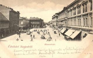 1899 Szeged, Klauzál tér, Blum Ignácz üzlete