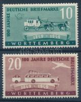 Centenary of German stamp set 100 éves német Bélyeg sor