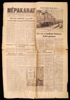 1956 2 db újság a forradalom időszakából vegyes állapotban