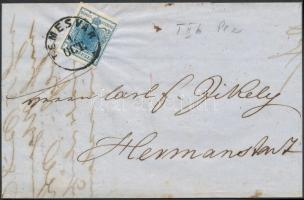 1851 9kr HP levélen / on cover TEMESVÁR - HERRMANNSTADT