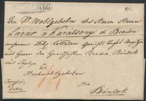 1825 Portós levél / Unpaid cover WIESELBURG - Bánlok