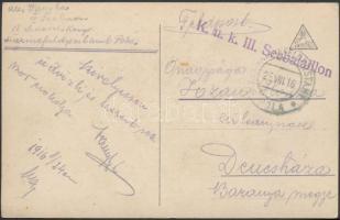 """Postcard """"K.u.k. III. Seebataillon"""" + """"MFP POLA b"""", Képeslap """"K.u.k. III. Seebataillon"""" + """"MFP POLA b"""""""