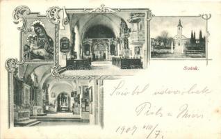 Susak, church, interior, Art Nouveau (EK)