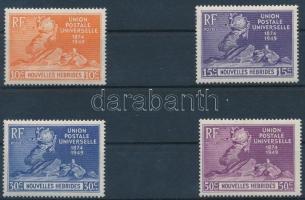 75 éves az UPU sor francia kiadás 75th anniversary of UPU set French Issue
