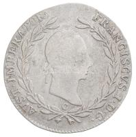 Ausztria 1830C 20kr Ag I. Ferenc Prága (6,56g) T:2,2- /  Austria 1830C 20 Kreuzer Ag Franz I Prague (6,56g) C:XF,VF Krause KM#2145