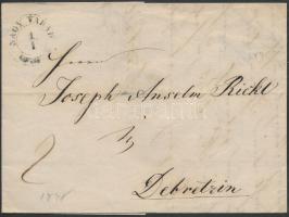 1848 Portós levél / Unpaid cover ,,NAGY VÁRAD - Debretzin