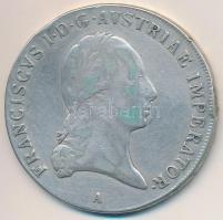 Ausztria 1820A Tallér Ag I. Ferenc (27,71g) T:2-,3 ph. Austria 1820A Thaler Ag Franz I (27,71g) C:VF,F edge error Krause KM#2162