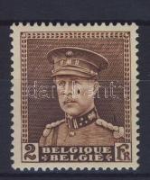 Paint spot on the face of the ship stamp, Festékfolt a király arcán bélyeg, König Albert I. mit Schirmmütze Marke