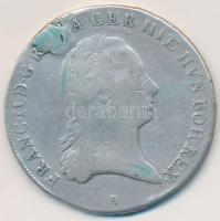 Osztrák Németalföld 1796B 1/2 Koronatallér Ag II. Ferenc (14,46g) T:2-,3 lyuktömött Austria Netherlands 1796B 1/2 Kronenthaler Ag Franz II (14,46g) C:VF,F plugged hole Krause KM#61.2