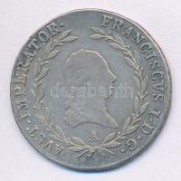 Ausztria 1819A 20kr I. Ferenc (6,45g) Ag T:2- kis ph. Austria 1819A 20 Kreuzer Ag Franz I (6,45g) C:VF small edge error Krause KM#2143