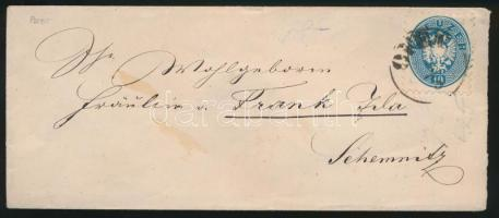 ~1865 10kr on cover