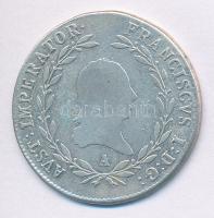 Ausztria 1815A 20kr Ag I. Ferenc (6,49g) T:2- Austria 1815A 20 Kreuzer Ag Franz I (6,49g) C:VF Krause KM#2142
