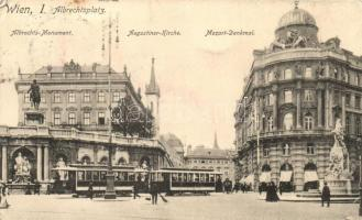 Vienna, Wien I. Albrechtsplatz, tram