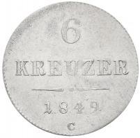 Ausztria 1849C 6kr Ag (1,9g) T:2 /  Austria 1849C 6 Kreuzer Ag (1,9g) C:XF Krause KM#2200