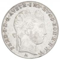 Ausztria 1838A 3kr Ag I. Ferdinánd Bécs (1,7g) T:2 /  Austria 1838A 3 Kreuzer Ag Ferdinand I Vienna (1,7g) C:XF Krause KM#2191