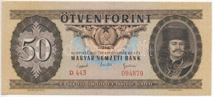 1951. 50Ft T:II-,III szép papír /  Hungary 1951. 50 Forint C:XF,F nice paper  Adamo F18