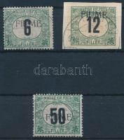 Fiume1918 Feketeszámú Portó 6f, 12f, 50f (41.000) / Mi P1x, P2z, P3z Signed: Bodor
