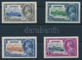 1935 V. György trónra lépésének 25. évfordulója sor Mi 196-199