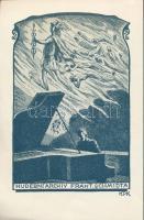 Jan Konůpek (1883-1950): Ex libris Frant. Schmidta, Klisé, papír, jelzett a klisén, 15×10 cm