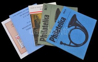 1984-2007 5 db filatéliai szakkönyv: 2 Philatelica, Belga Akadémia, Posta Múz. Alapítv., Pápa)