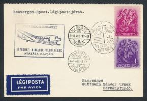 1938 Esztergom - Budapest alkalmi légi levelezőlap