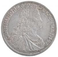 Ausztria 1732. Tallér Ag VI. Károly Hall (28,31g) T:2 kissé hajlott lemez /  Austria 1732. Thaler Ag Karl VI Hall (28,31g) C:XF slightly wavy planchet Krause KM#1617