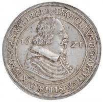 Ausztria 1621. Tallér Ag V. Lipót Hall (28,56g) T:2 enyhén hajlott lemez /  Austria 1621. Thaler Ag Leopold V Hall (28,56g) C:XF sligthly wavy planchet Krause KM#264.5