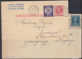 1933-1958 2 db küldemény Magyarországra