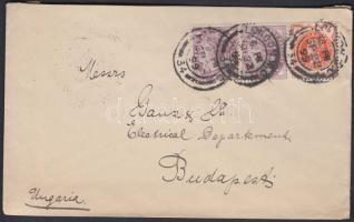 1899 1/2p + 2 x 1p levélen Magyarországra / on cover to Hungary