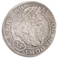 Német Államok / Szilézia 1693MMW 15kr Ag I. Lipót Boroszló (5,92g) T:2,2- /  German States / Silesia 1693MMW 15 Kreuzer Ag Leopold I Breslau (5,92g) C:XF,VF Krause KM#462