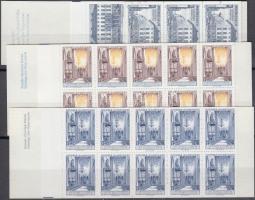 1972-1981 3 db próba bélyegfüzet próbanyomat