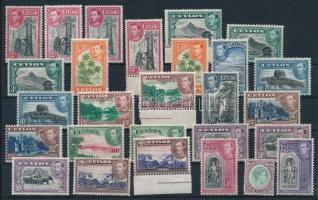 1938-1947 Forgalmi sor típusváltozatokkal, összesen 27 bélyeg 1938-1947 Definitive set with type varieties, 27 stamps