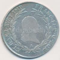 Ausztria 1806A 20kr Ag I. Ferenc (6,51g) T:2- Austria 1806A 20 Kreuzer Ag Franz I (6,51g) C:VF Krause KM#2141