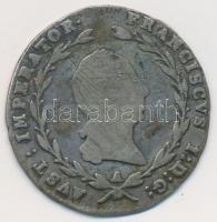 Ausztria 1815A 5kr Ag I. Ferenc (2,06g) T:3 k. Austria 1815A 5 Kreuzer Ag Franz I (2,06g) C:F scratch Krause KM#2122