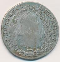 Ausztria 1778IC-FA 20kr Ag Mária Terézia (6,50g) T:2- rep., patina Austria 1769IC-FA 20 Kreuzer Ag Maria Theresia (6,50g) C:VF crack, patina Krause KM#1999