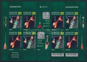Europa CEPT, Népi hangszerek kisív Europa CEPT, Folk instruments mini sheet