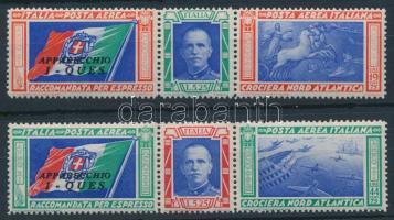 1933 Róma-Chicago repülés szelvényes sor Mi 445-446