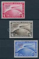1931 Zeppelin Polarfahrt Mi 456-458