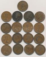 Nagy-Britannia 1917-1967. 1p Br (17x) mind különböző évszám T:2-3 némelyiken oxidáció Great Britain 1917-1967. 1 Penny Br (17x) all with different dates C:XF-F some with corrosion Krause KM#810, KM#838, KM#845, KM#897
