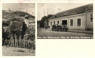 Vienna, Wien XIX. Grinzing, Beim Klan Rockenbauer, automobile, Sandgasse 14.