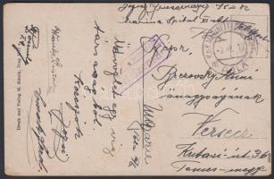 1918 Képeslap Marienspital Pola + MFP POLA