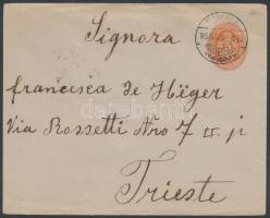 1895 Díjjegyes boríték FIUME - Triest