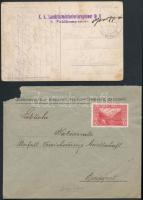 1910-1915 2 db küldemény