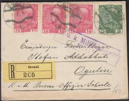 1915 Cenzúrás ajánlott levél DRNIS - OGULIN