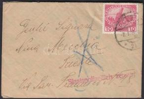 1916 Cenzúrás levél POLA - Trieste