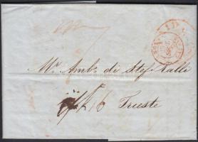 1840 Levél Londonból Triesztbe