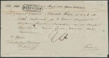 1839 Portós levél DEBRECZIN - PESTH